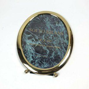 Solid Brass Picture Frame Oval Lacquered